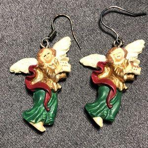 Vintage Angel Earrings